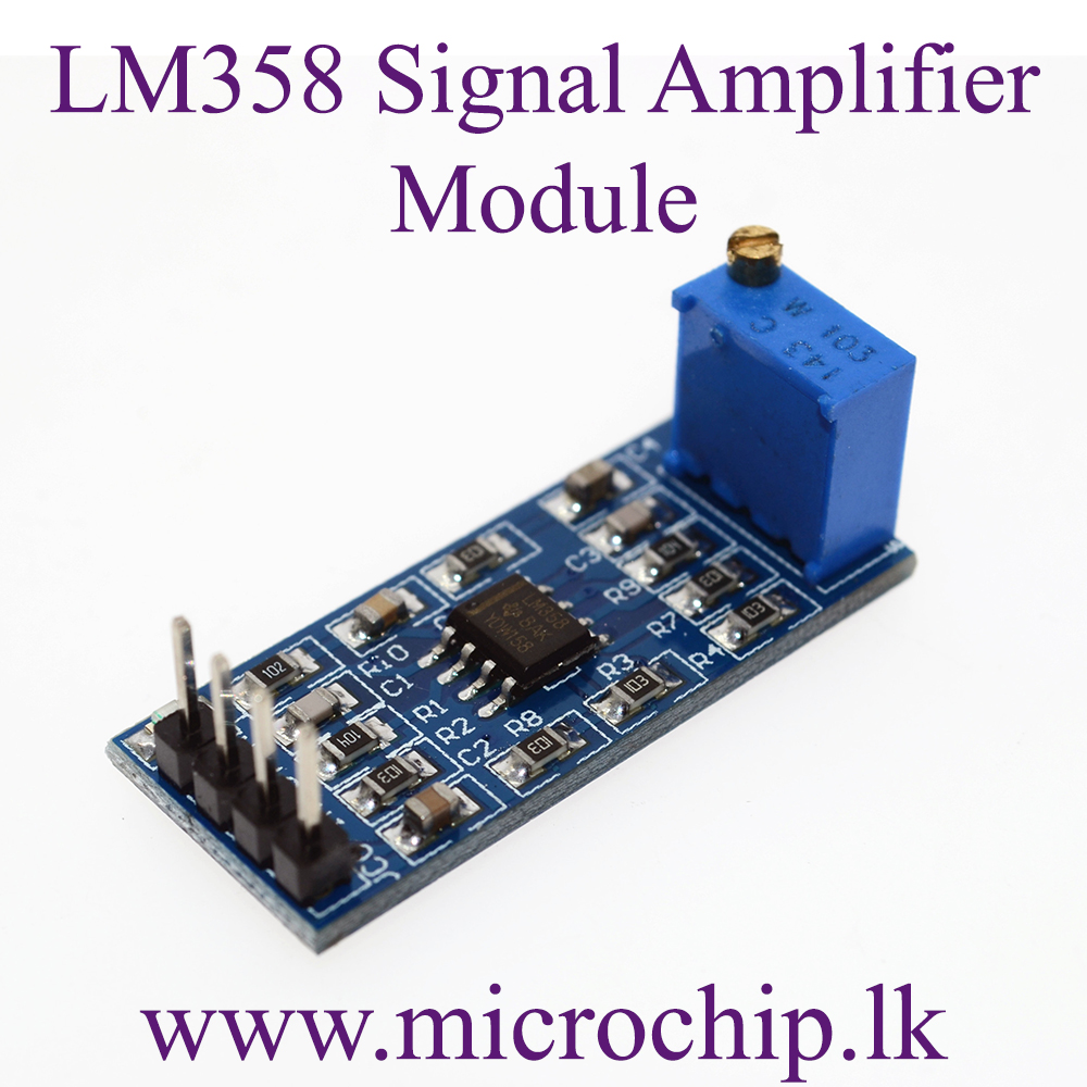 Lm358 Signal Amplifier Module Op Amp The Operational Amplifiers Electronics 100 Times Gain Amplification